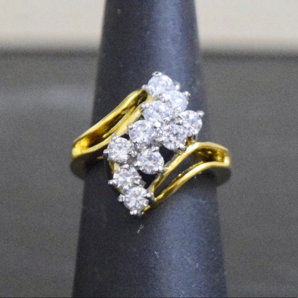 74% off Jewelry - 14K Gold Lab Diamond Engagement wedding Ring ...